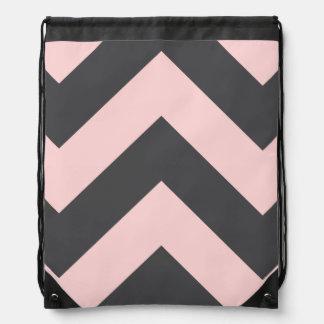 zigzag drawstring backpack