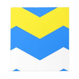 ZIGZAG en ~ azul y amarillo Bloc De Papel
