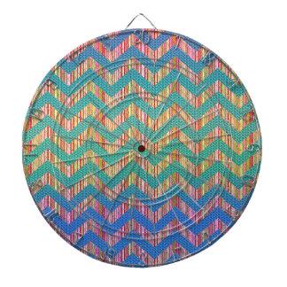Zigzag en colores pastel lindo de moda tabla dardos