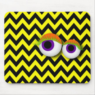 ZigZag eye Monster propellant-actuated device: yel Mouse Pads