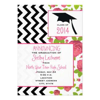 Zigzag & Floral 2014 Graduation Announcement