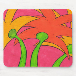 Zigzag Flowers Mouse Pad