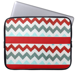 ZigZag For Neoprene Laptop Sleeve 15 inch (Red)