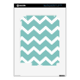 Zigzag geometric pattern - blue and white. decals for iPad 3