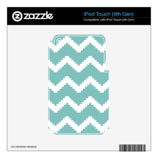 Zigzag geometric pattern - blue and white. iPod touch 4G decal