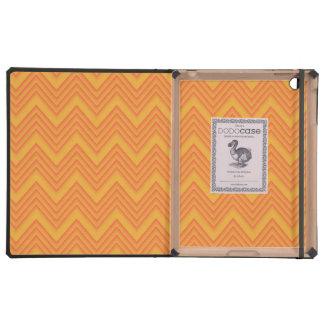 Zigzag grabado en relieve Monotones anaranjado iPad Cárcasas