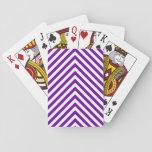 Zigzag grande púrpura violeta cartas de póquer