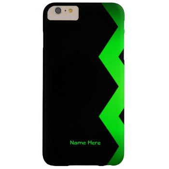 Zigzag Green Personalized Barely There iPhone 6 Plus Case
