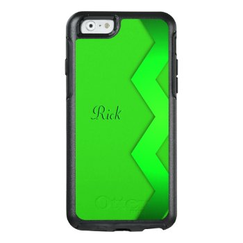 Zigzag Green Personalized OtterBox iPhone 6/6s Case