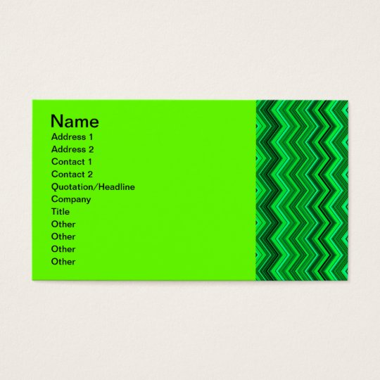 zigzag greens business card