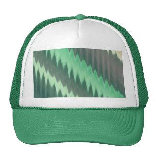 Zigzag gris verde moderno de Ikat Chevron de la Gorras De Camionero