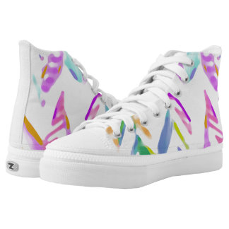 zigzag High-Top sneakers