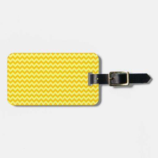 Zigzag horizontal Ancho-Amarillo y amarillo de la  Etiquetas Para Equipaje