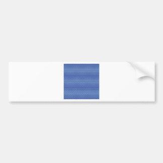 Zigzag horizontal - azul claro y azules marinos etiqueta de parachoque
