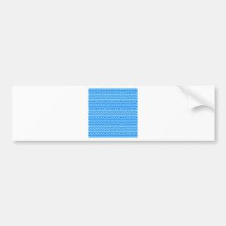 Zigzag horizontal - azul y azul de la ventisca etiqueta de parachoque