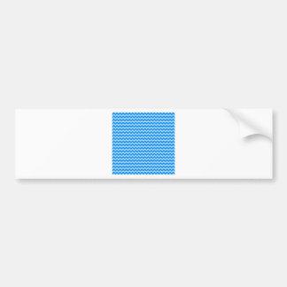 Zigzag horizontal de par en par - azul y azul de l pegatina de parachoque