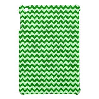 Zigzag horizontal de par en par - Offwhitegreen y  iPad Mini Cobertura