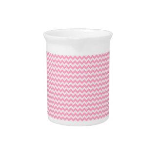 Zigzag horizontal - palidezca - rosa y rosa del cl jarra