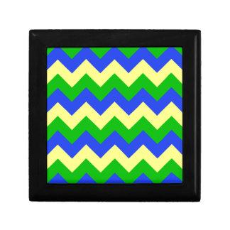 Zigzag I - Amarillo, azul, verde Caja De Regalo