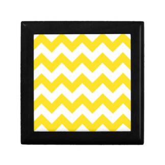 Zigzag I - Amarillo blanco y de oro Cajas De Regalo