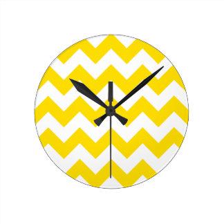 Zigzag I - Amarillo blanco y de oro Reloj