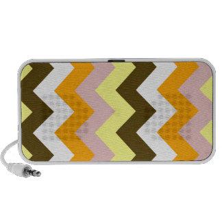 Zigzag I - Amarillo, rosado, anaranjado, blanco, Notebook Altavoces