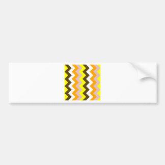 Zigzag I - Amarillo, rosado, anaranjado, blanco, Pegatina Para Coche