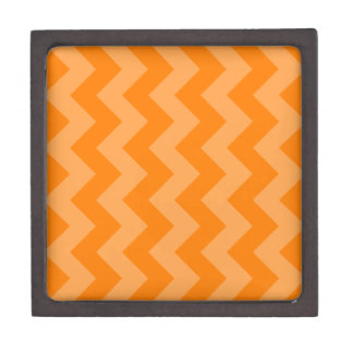 Zigzag I - Anaranjado y anaranjado oscuro Caja De Joyas De Calidad