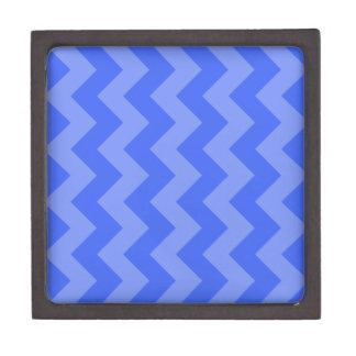 Zigzag I - Azul y azul claro Caja De Recuerdo De Calidad