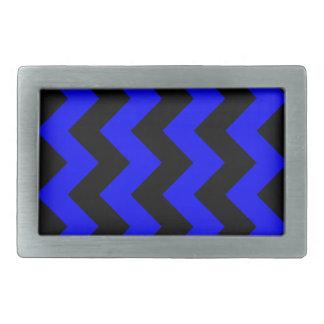 Zigzag I - Black and Blue Belt Buckle