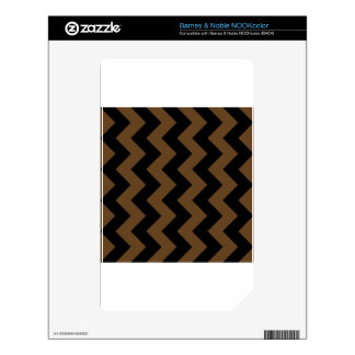 Zigzag I - Black and Dark Brown Decal For NOOK Color