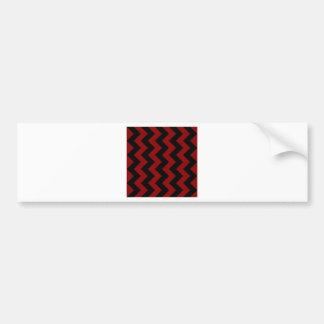 Zigzag I - Black and Dark Red Bumper Stickers
