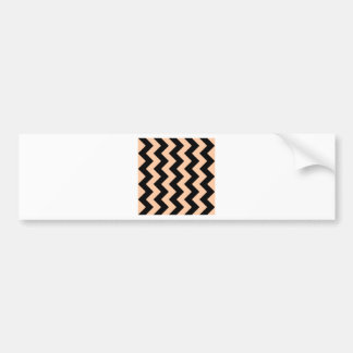 Zigzag I - Black and Deep Peach Bumper Sticker