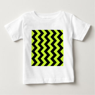 Zigzag I - Black and Fluorescent Yellow Baby T-Shirt