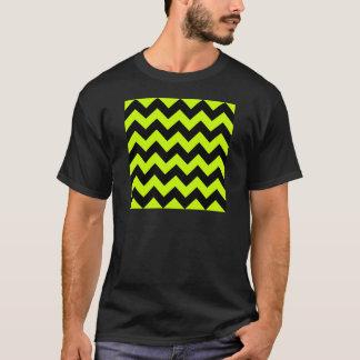 Zigzag I - Black and Fluorescent Yellow T-Shirt
