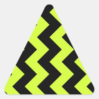 Zigzag I - Black and Fluorescent Yellow Triangle Sticker