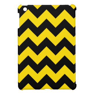 Zigzag I - Black and Golden Yellow Cover For The iPad Mini