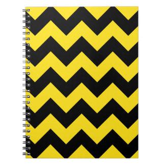 Zigzag I - Black and Golden Yellow Notebooks