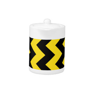 Zigzag I - Black and Golden Yellow