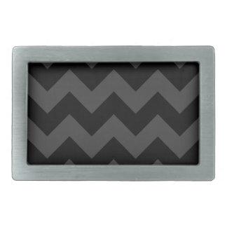 Zigzag I - Black and Gray Belt Buckles