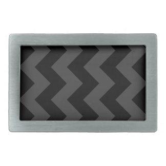 Zigzag I - Black and Gray Rectangular Belt Buckles