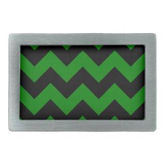 Zigzag I - Black and Green Belt Buckles