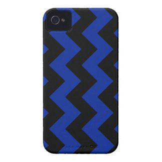 Zigzag I - Black and Imperial Blue iPhone 4 Case-Mate Case