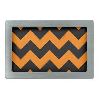 Zigzag I - Black and Orange Belt Buckle