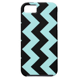 Zigzag I - Black and Pale Blue iPhone 5 Cases