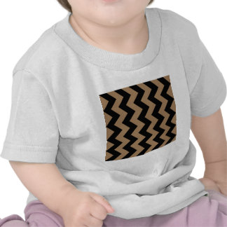 Zigzag I - Black and Pale Brown T-shirt
