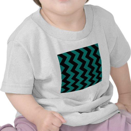 Zigzag I - Black and Pine Green Shirts