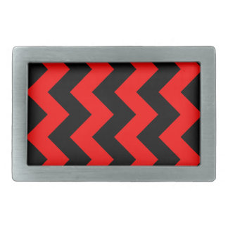 Zigzag I - Black and Red Belt Buckle