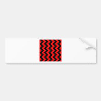 Zigzag I - Black and Red Bumper Sticker