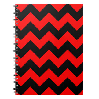 Zigzag I - Black and Red Notebooks